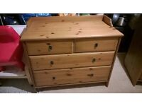 Two Ikea 'Leksvik' chests of drawers.
