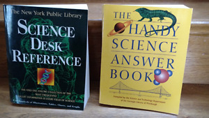 Science Reference and Answer books