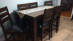 Pub Style Table & 6 Chairs