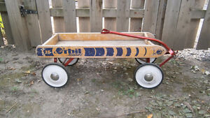VINTAGE CHILDS WAGONS - Flyer wood wagon