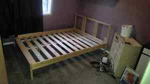 Pine twin bed and night stand