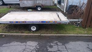 Single skidoo trailer with tilt 5x10