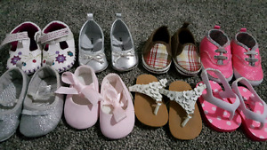 8 pairs of 3-6 months baby girl shoes