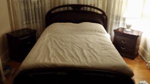 Italian Solid Mahogany bedroom set (5 pcs)