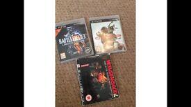 3 PlayStation 3 games, battlefield 3 metal gear solid 4 etc