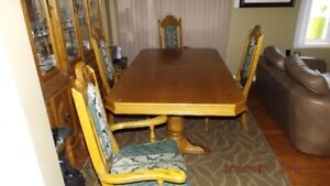 "Solid Oak Table and Chairs  ""SOLD"""