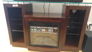 Electric Fireplace with Heater.