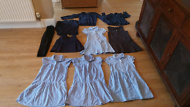 Girls School Uniform Navy Blue age 7-8 & 6-7 dresses cardigans trouser