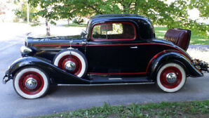 '34 Chev, 2 dr, rumble seat coupe
