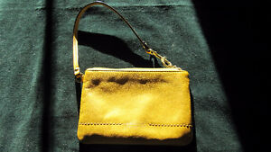 Coach wristlet- warm yellow- excellent condition