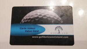 Golf Dome West Island Value card