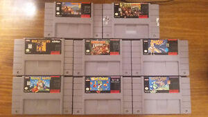 SNES games for sale - EXCELLENT CONDITION, PRICES NEGOTIABLE