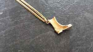 Golden Boot Necklace
