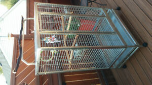 "Bird cage stainless steel 61""x36""x24"""