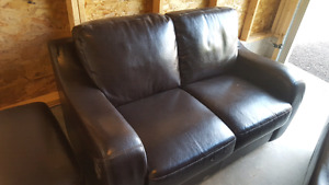 Couch (sofa) love seat and ottoman