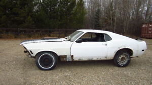 1970 Mustang Fastback/fold down rear seat Project $7500.00