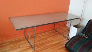 """Table 31"""" X 78"""" acier et verre"""