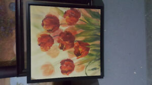 Flower painting for sale.