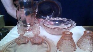 **REDUCED** Lot Of Depression Glass Items