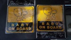 Baby On Board Stickers X2