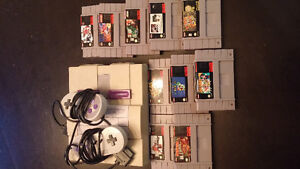 Super NES with 10 games
