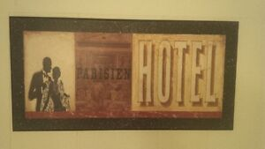 Parisien Hotel Wall Sign