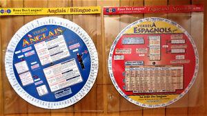 2 Roues des langues bilingues * 1 ANGLAIS/FR et 1 en ESPAGNOL/FR