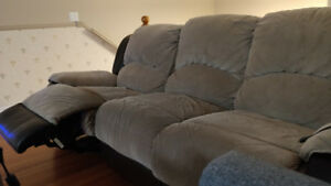 Recliner couch. Microfiber - Set of 2. Both for $300 total