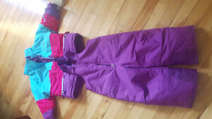 North peak girls snow suit