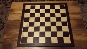 Beautiful Solid Wood Chess Set and Antique Hand-carved Box