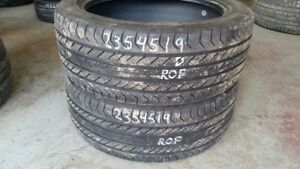 Pair of 2 Continental ProContact GX SSR (run-flat) 235/45R19 tir