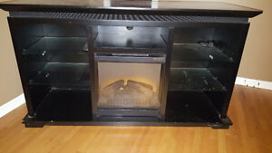 Tv Stand with Dimplex fireplace