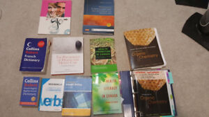 Health Science/French/Organic Chemistry books for sale!