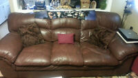 Leather Couch & Chair with a Lazy Boy Recliner