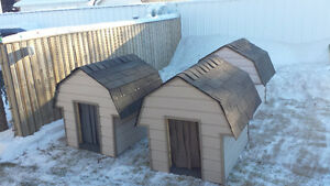 Newly built insulated dog house
