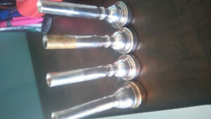 Various Trumpet Mouthpieces