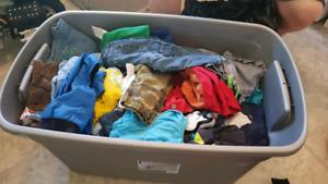 Tub of boys clothes