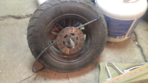 "10"" Tire with Speedo Cable"