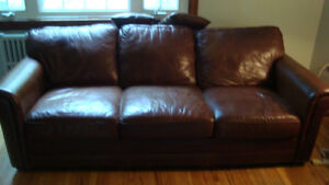 Real Italian Leather sofa-couch for sale