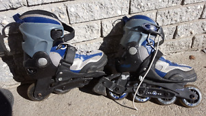 Patins roues alignés  fille taille ajustable 1-4