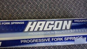 Hagon Progressive Springs and Evotech lower engine guard-as new