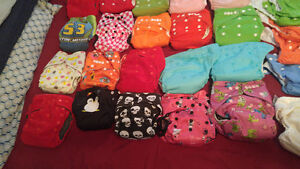 47 cloth diapers, wet bag, cloth wipes