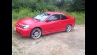 Red Honda Civic 2003 coupe