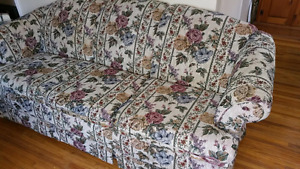 Floral Paterned Cloth Couch