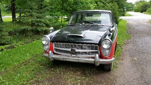 1961 AUSTIN WESTMINSTER A99 FOUR DOOR SEDAN TWO TONE RED AND BL
