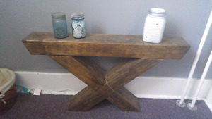 Barn beam hall table