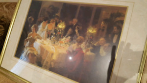 The Dinner Party by Jules-Alexandre Grün  with frame