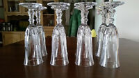 Crystal champagne flutes set of 8