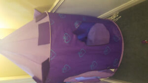 Purple kids pop up tent