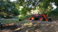 Custom tractor work and landscaping.